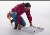 contractor viewing architectural drawings